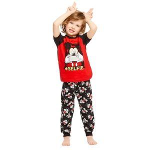 Disney 6X Mickey 2-Piece Short-Sleeve Cotton PJ